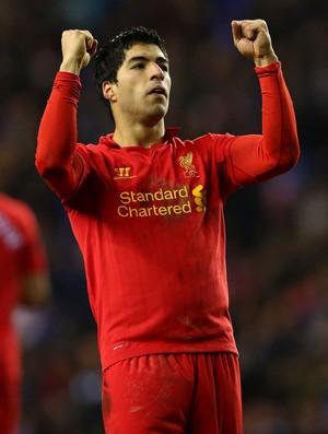 luis suarez liverpool gol wigan (Foto: Agência Getty Images)
