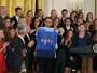 Obama recebe a seleção feminina de futebol dos EUA e pede o ouro no Rio