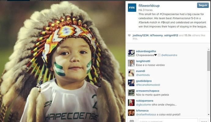 indiozinho Chapecoense (Foto: Reprodução)