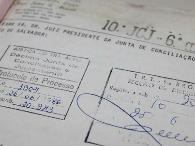 Processo foi ajuizado por trabalhador em junho de 1986 (Foto: Divulgação/TRT)