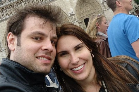 Fábio Azevedo e a esposa, Paula Junqueira (Foto: Reprodução)