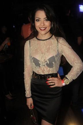 Patricia Lissah em show em São Paulo (Foto: Thiago Duran/ Ag. News)