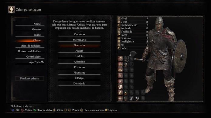Dark Souls 3: guerreiro (Foto: Reprodução/Victor Teixeira)