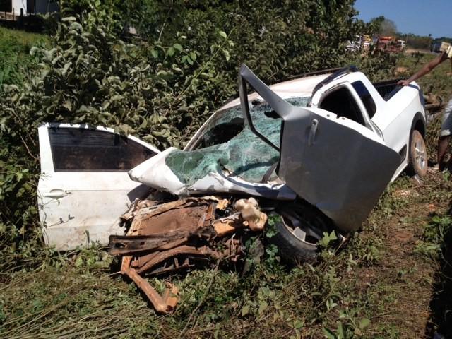 Acidente na PI-130 deixa cinco pessoas feridas em Nazária, no Piauí (Foto: Gil Oliveira/G1 Piauí)