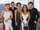 Fabíula Nascimento arrasa com look navy em première nos Estados Unidos