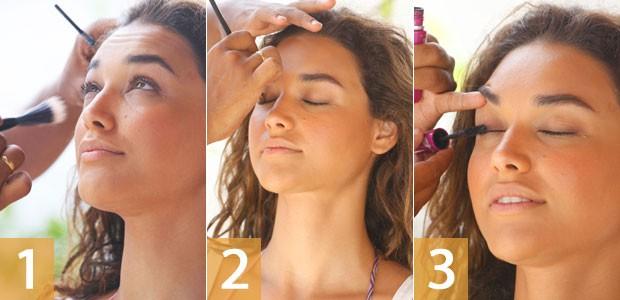 Maquiagem taís (Foto: Flor do Caribe / TV Globo)
