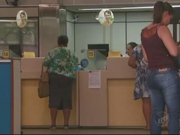 Agência dos Correios, em Campinas, operou sem reflexos nesta quarta-feira (16) (Foto: Reprodução/EPTV)