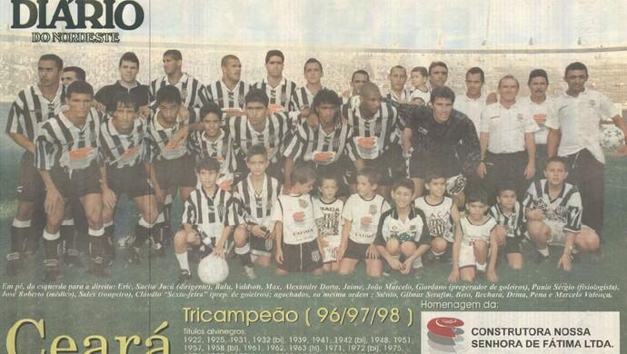 Ceará, campeão, 1998 (Foto: Reprodução/Diário do Nordeste)