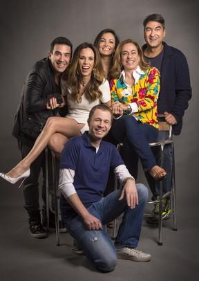 Ana Furtado, Patrícia Poeta, Tiago Leifert, Cissa Guimarães e Zeca Camargo (Foto: Globo/Divulgação)