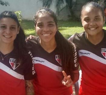 Cecília passou rapidamente pelo São Paulo antes de chegar ao futebol baiano  (Foto: Cecília Viana/Arquivo Pessoal)