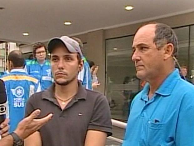 Ao lado do pai, Jovane conta como conseguiu resgatar cerca de 40 pessoas na boate Kiss (Foto: Mais Você / TV Globo)