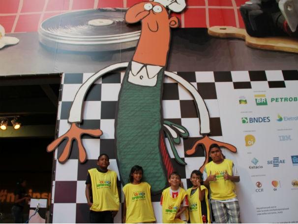 Crianças do ECE Rio de Janeiro visitam o festival Anima Mundi 2013 (Foto: Divulgação / Camila Romana)