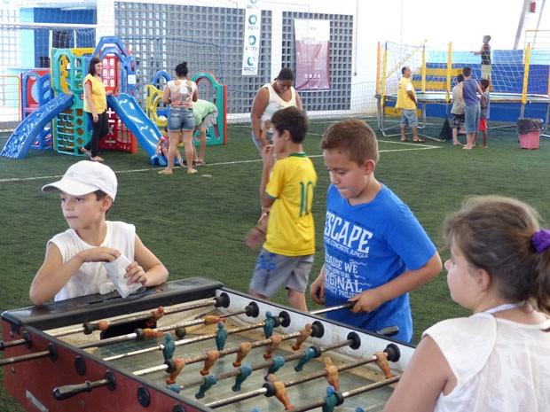 Jogos e brincadeiras divertiram a todos (Foto: Divulgação/RPC TV)