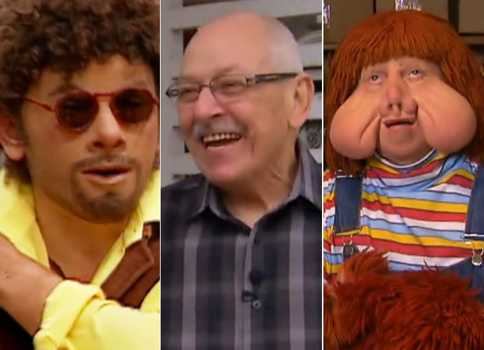 Orival Pessni, ator e criador de personagens como Patropi e Fofão, participa do Por Onde Anda (Foto: TV Globo)