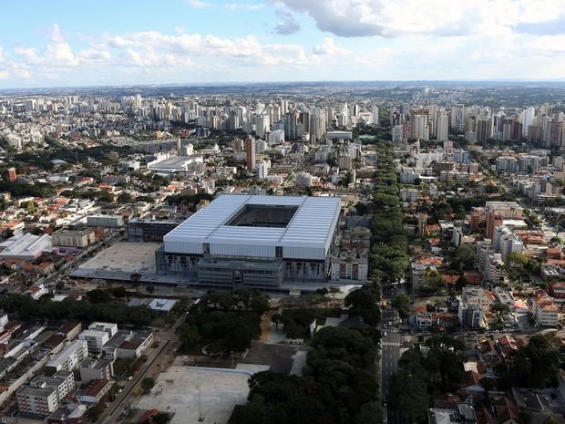 Arena da Baixada, em Curitiba, em foto feita em 27 de abril de 2014 (Foto: Orlando Kissner/AFP)