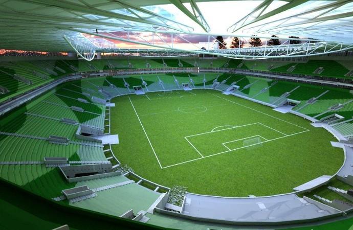 Projeção de como ficará a Allianz Arena (Foto: Divulgação/WTorre)