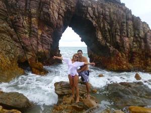 Vanessa enviou foto de uma viagem que fez para Jericoacoara ao lado de Gladstone Magalhães. (Foto: Vanessa Magalhães/VC no G1)