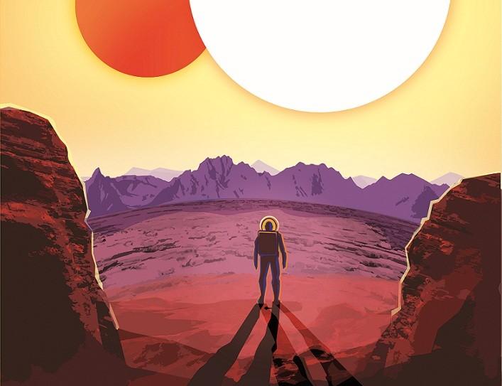 Kepler-16b: Qualquer semelhança com Tatooine, de Star Wars, não é mera coincidência (Foto: Reprodução)
