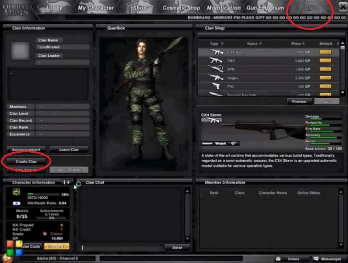 Combat Arms: Aprenda a criar um clã no FPS online (Foto: Reprodução)