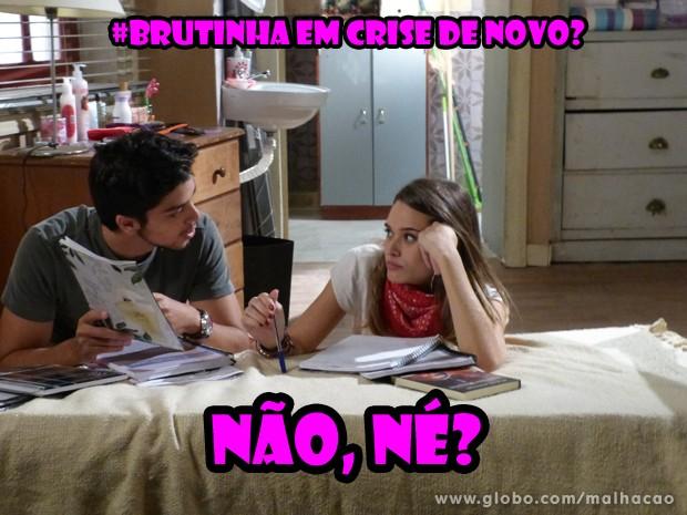 O Bruno bem que tenta se explixar, mas não convence ninguém (Foto: Malhação/TV Globo)