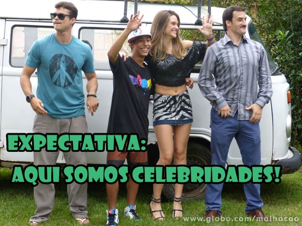 KKKKKK Olha o Pilha e a Fatinha se sentindo, glr! (Foto: Malhação / Tv Globo)