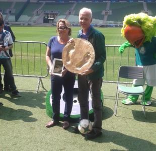 Ademir da Guia é homenageado no estádio do Palmeiras (Foto: Divulgação)