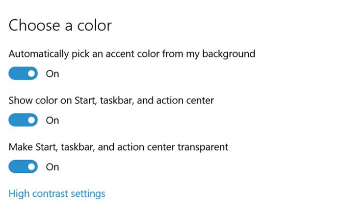Nova build do Windows 10 permite trocar cor do Iniciar, de barras de tarefas e de título (Foto: Divulgação/Microsoft)