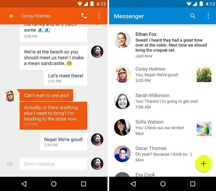 Messenger é o novo aplicativo de mensagens do Google para Android (Foto: Divulgação)