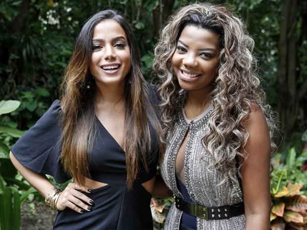 Anitta e Ludmilla participam juntas da gravação de Alto Astral (Foto: Ellen Soares/ Gshow)