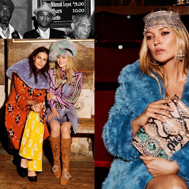 Kate Moss e Naomi Harris estrelam campanha de inverno 2018 da Miu Miu (Foto: Divulgação)