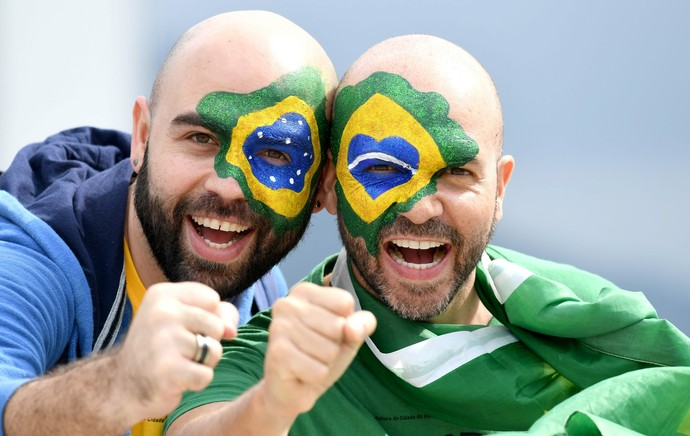 Caras pintadas no Parque olímpico (Foto: EFE/EPA/BERND THISSEN)