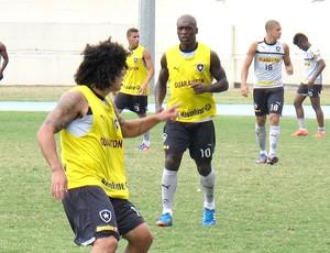 Seedorf no treino do Botafogo (Foto: Fred Huber / Globoesporte.com)