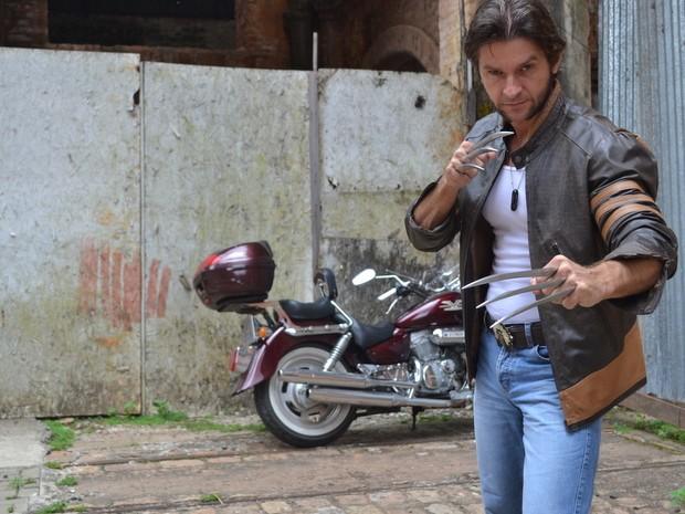 Marcel Perez começou a estudar os trejeitos do personagem (Foto: Claudia Assencio/G1)