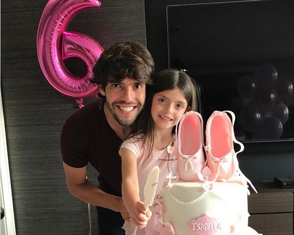 Kaka comemora o aniversário da filha Isabella (Foto: Reprodução Instagram)