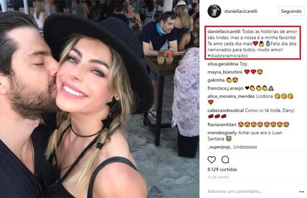Daniella Cicarelli e o novo namorado, Guilherme Menge (Foto: Reprodução/Instagram)