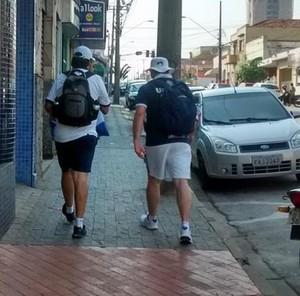 William Alves, Eduardo Demilite, caminhada, São Bento, são-bentistas, Pacaembu, Sorocaba, São Paulo (Foto: Loraine Cristine / Arquivo pessoal)