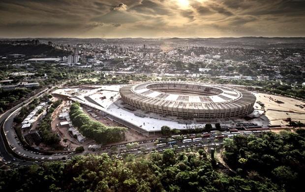 Fotos aéreas do Mineirão mostram integração com cartão-postal dos mineiros (Foto: Alberto Andrich / Bcmf)