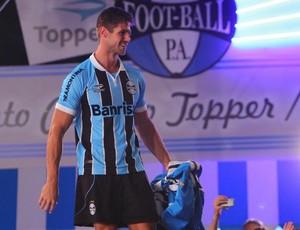 Lançamento dos novos uniformes do Grêmio (Foto: Lucas Uebel/Divulgação/Grêmio)