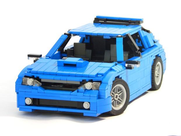 Subaru Impreza criado com peças de Lego (Foto: Arquivo Pessoal)