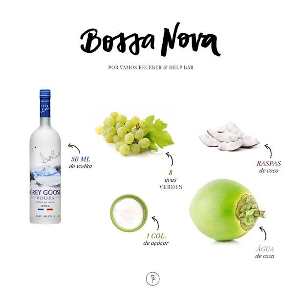 Saiba como fazer o refrescante drink Bossa Nova (Foto: Arte Karen Hoftetter)
