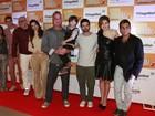 Elenco comemora o lançamento do primeiro filme brasileiro em 3D