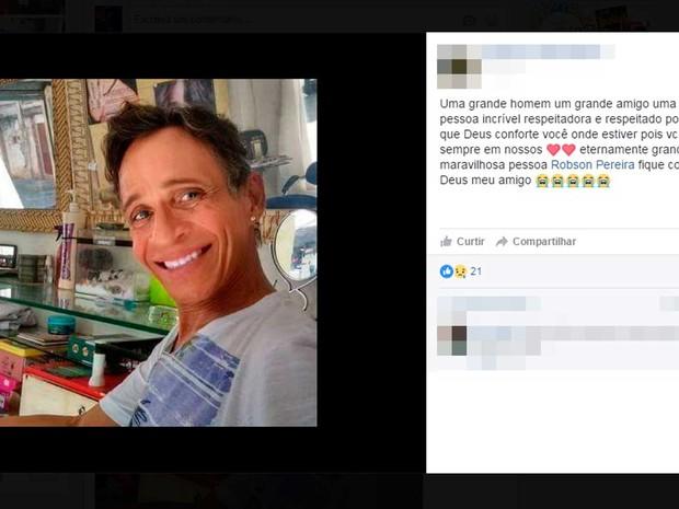 Cabeleireiro morre após briga com companheiro na Bahia (Foto: Reprodução/Facebook)