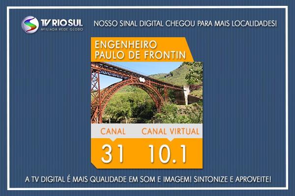 Moradores de Paulo de Frontin já podem aproveitar o sinal HD da TV Rio Sul (Foto: TV Rio Sul)