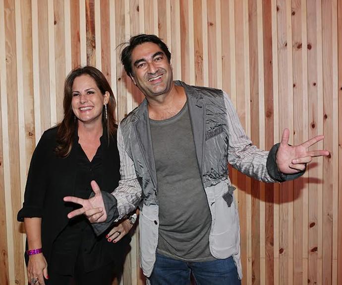 Zeca Camargo e Renata Ceribelli  (Foto: Carol Caminha / Gshow)