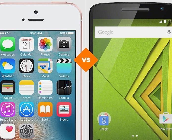 iPhone SE ou Moto X Play: celulares combinam preço baixo e bom hardware (Foto: Arte/TechTudo)