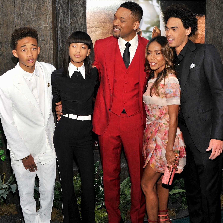 """Quem garante que Will Smith é um bom pai é a """"patroa"""", Jada Pinkett. """"É imensurável o apoio emocional que ele dá aos filhos"""", já disse ela certa vez. Eles são pais de Trey, de 21 anos, Jaden, de 15, e Willow, de 13. (Foto: Getty Images)"""