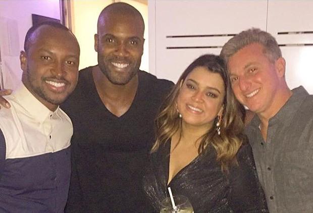 Thiaguinho, Rafael Zulu, Preta Gil e Luciano Huck (Foto: Reprodução/Instagram)
