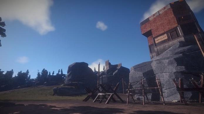 Rust tem muitas das mesmas mecânicas de Minecraft, The Forest e Ark, porém com uma dificuldade bem maior (Foto: Reprodução/Steam)