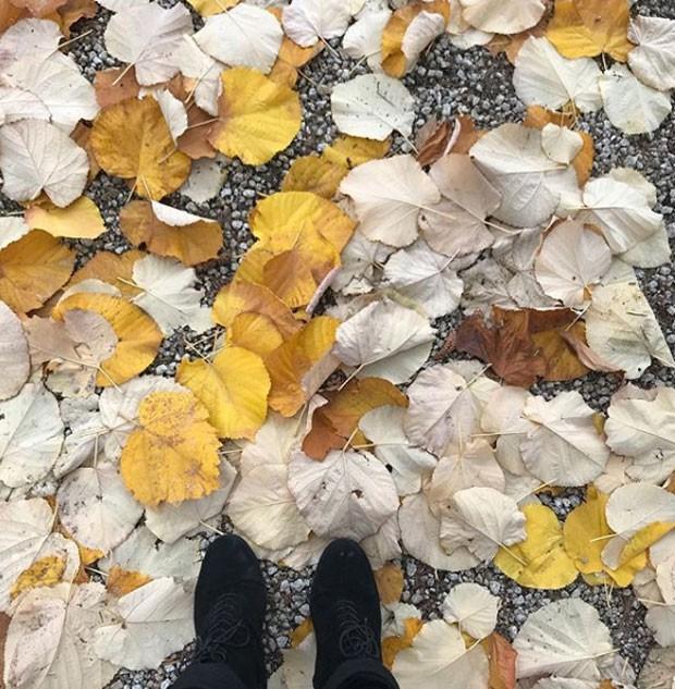 Giovanna Antonelli: foto no outono português (Foto: Reprodução Instagram)