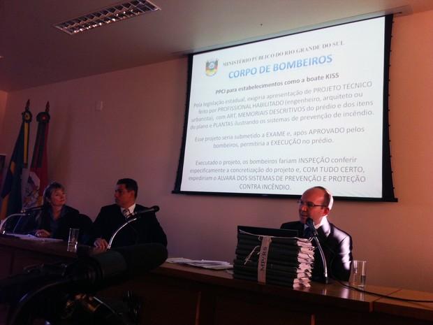 MP apresenta resultados de inquérito sobre tragédia na boate Kiss (Foto: Luiza Carneiro/G1)